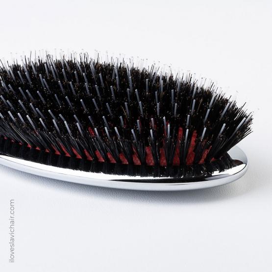 Janeke Mixed Bristle Brush with Nylon and Boar Bristles Large
