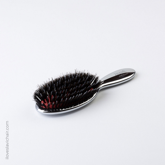 Janeke Mixed Bristle Brush with Nylon and Boar Bristles Medium