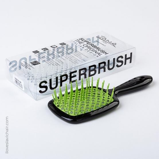 Janeke Superbrush Black & Green