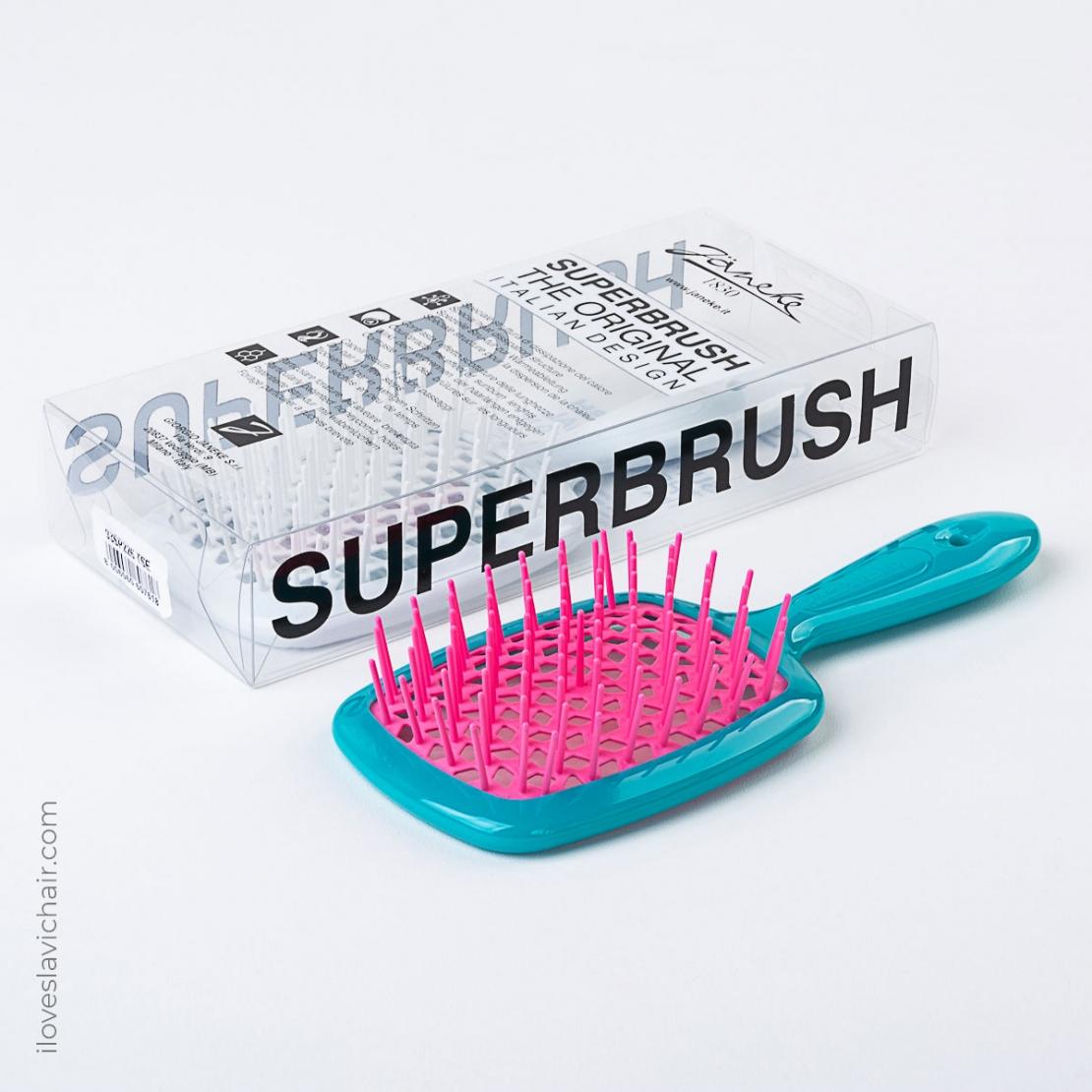 Janeke Superbrush Teal & Pink