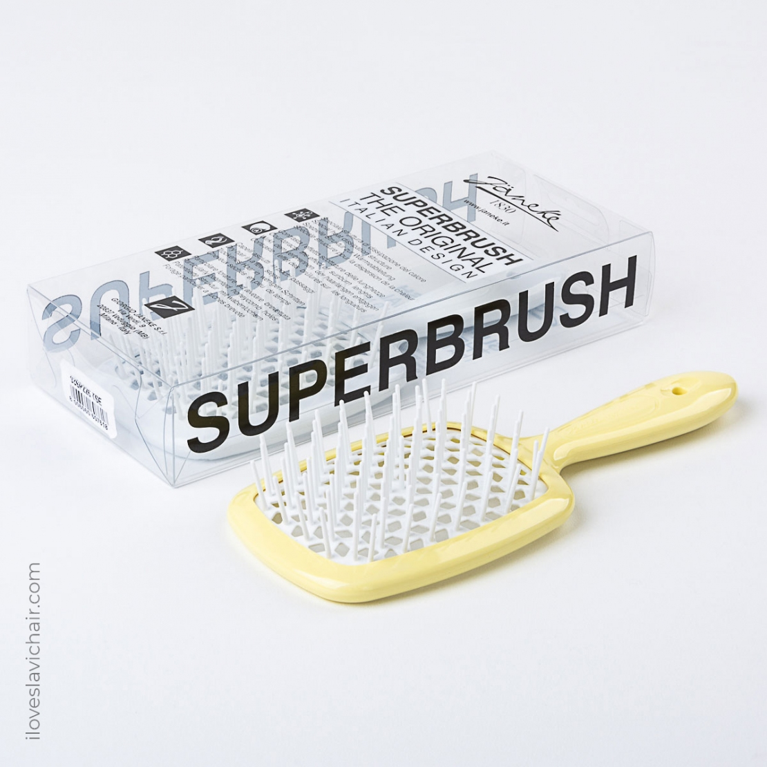 Janeke Superbrush Yellow & White
