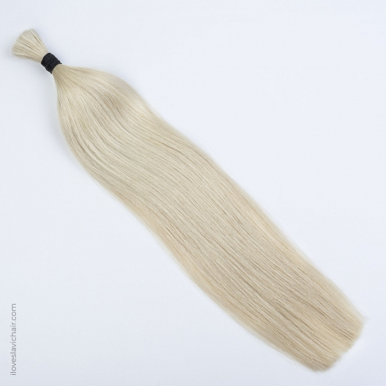 Platinum Blonde Russian Hand-tied Weft Hair Extensions