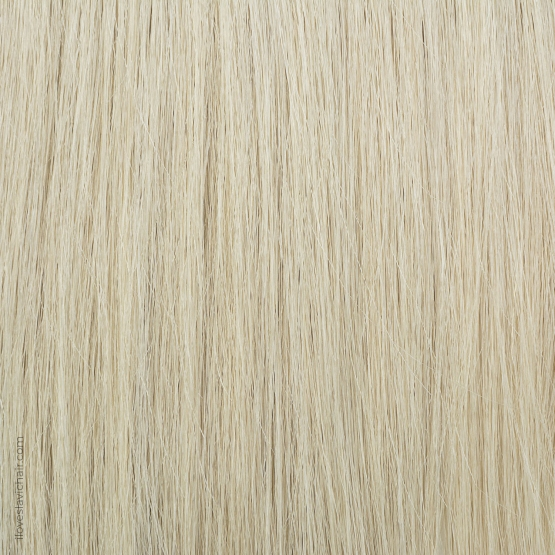 Platinum Blonde Russian Fusion Hair Extensions