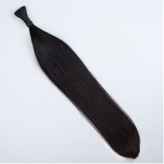 Jet Black #1 Hand-tied Weft Hair Extensions