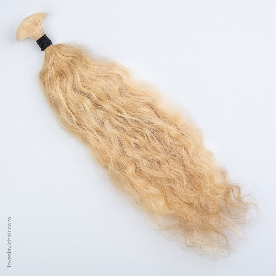 Warm Blonde #613 Russian Wavy Fusion Hair Extensions