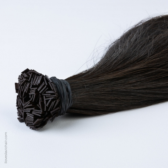Dark Brown #2 Russian Fusion Hair Extensions