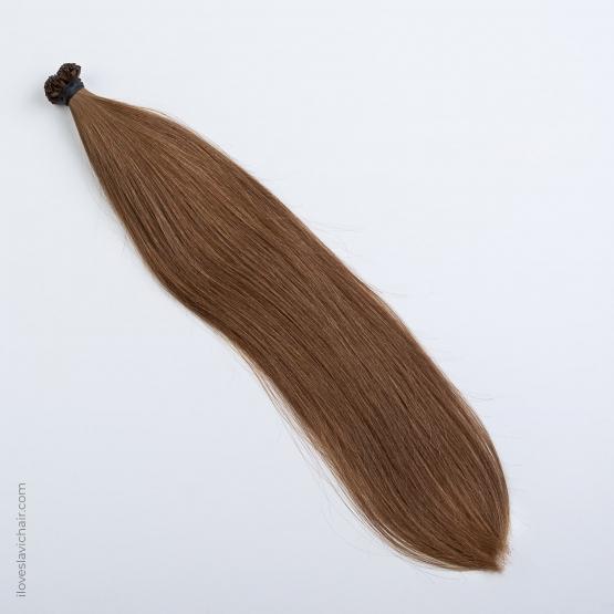 Light Caramel #10 Russian Fusion Hair Extensions