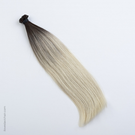 Ombre Blonde #60 & Dark Brown Russian Fusion Hair Extensions
