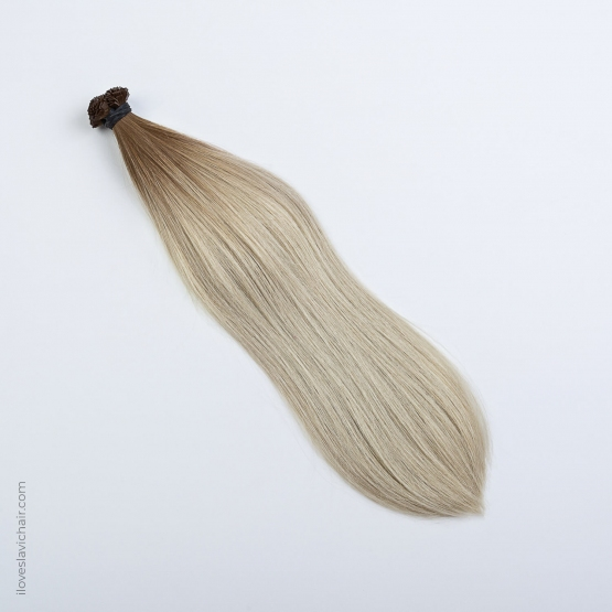 Ombre Blonde #60 & Light Brown Russian Fusion Hair Extensions