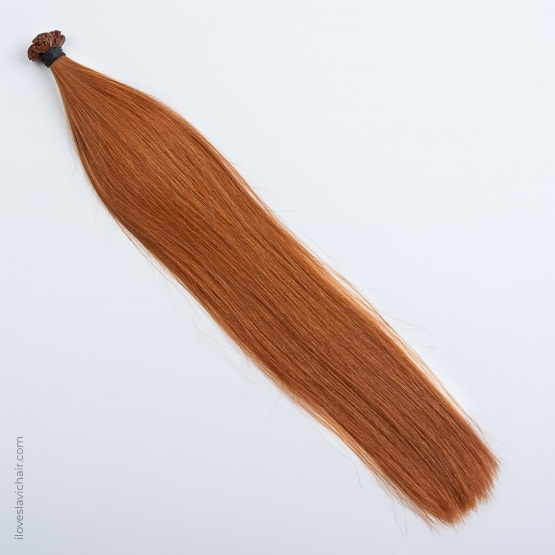 Red Copper #130 Russian Fusion Hair Extensions