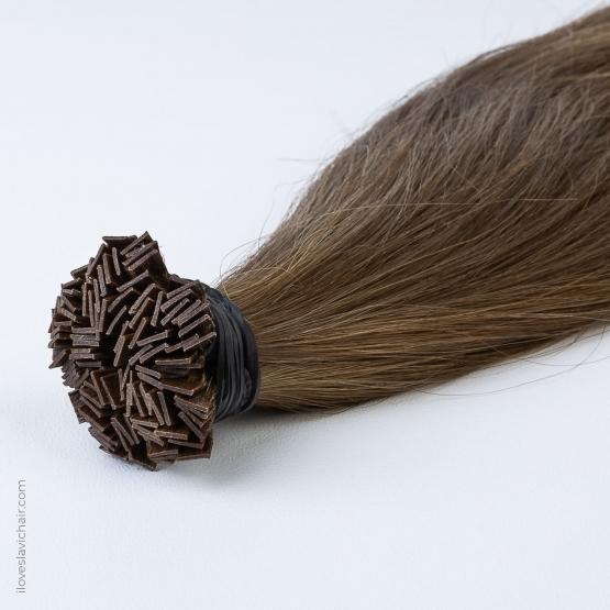 Caramel #8 Russian Fusion Hair Extensions