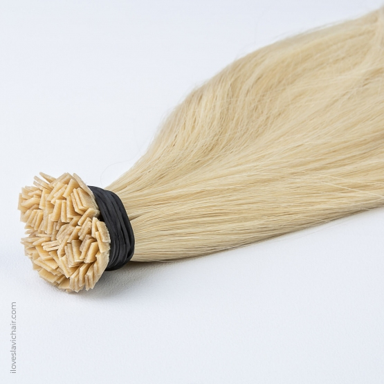 Cold Blonde #60 Russian Fusion Hair Extensions