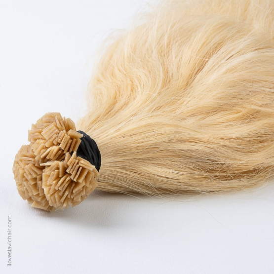 Cold Blonde #60 Russian Wavy Fusion Hair Extensions
