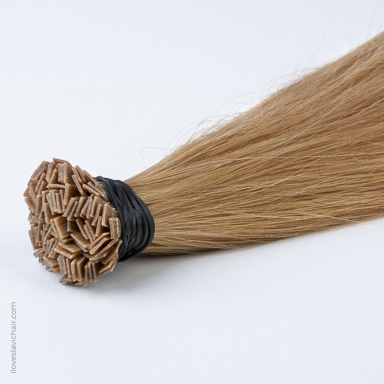 Dark Golden Blonde #14 Russian Fusion Hair Extensions