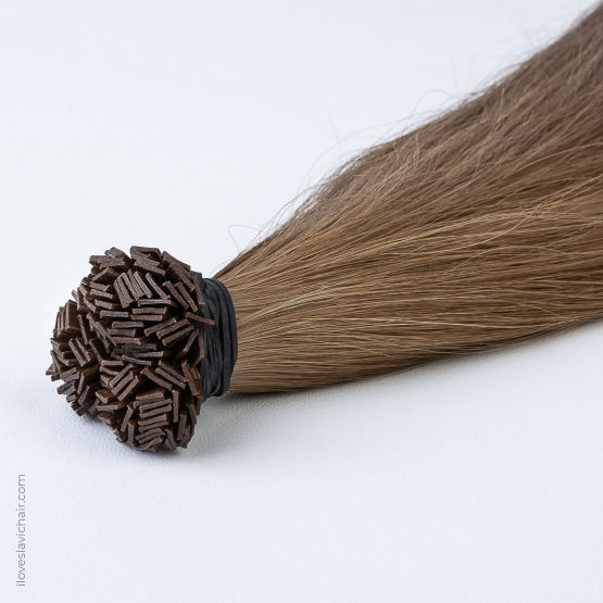 Golden Brown #12 Russian Fusion Hair Extensions