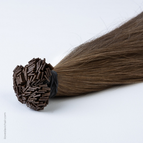 Light Brown #4 Russian Fusion Hair Extensions