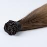 Golden Brown #12 & Dark Brown Russian Fusion Hair Extensions