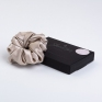Large Mulberry Silk Scrunchie Champagne