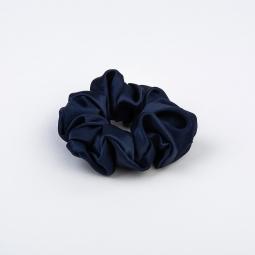 Large Silk Scrunchie Dark Blue