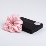 Large Mulberry Silk Scrunchie Pink