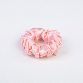 Small Silk Scrunchie Pink