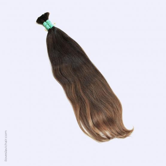 Virgin Slavic Hair Bundle, Color #6, 25.2″-64cm, 152 grams