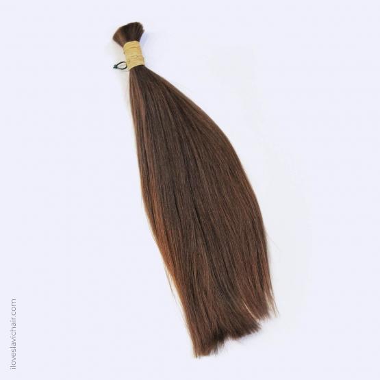 Virgin Slavic Hair Bundle, Color #7, 17.3″-44cm, 91 grams