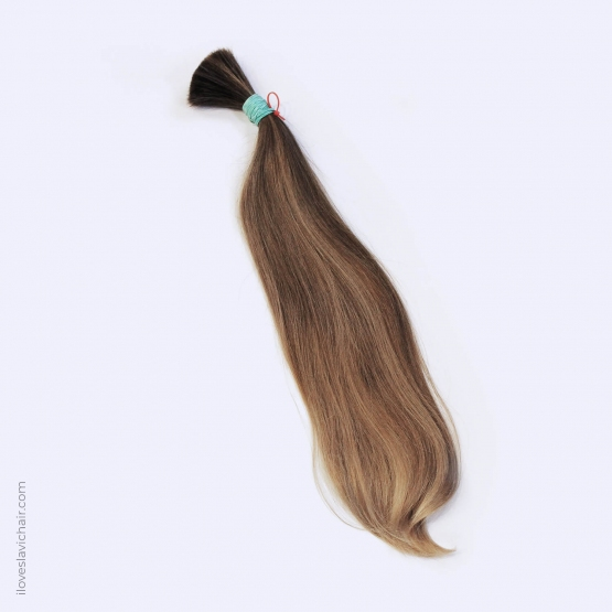 Virgin Slavic Hair Bundle, Color #7-8, 21″-53cm, 111 grams