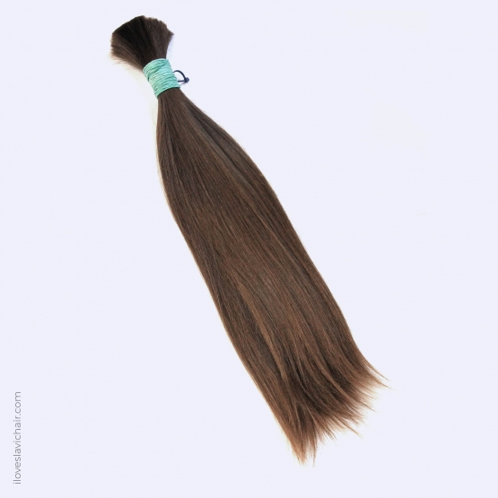 Virgin Slavic Hair Bundle, Color #6, 17.3″-44cm, 128 grams