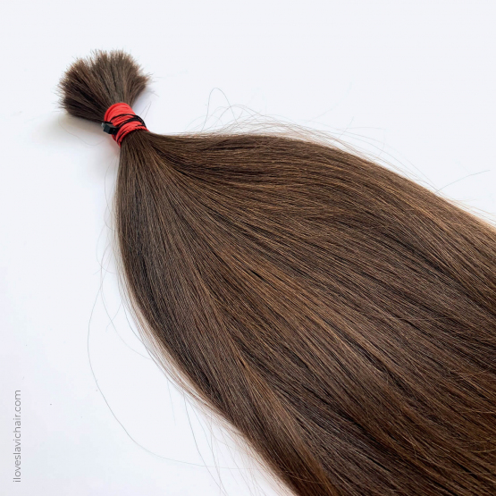 Virgin Slavic Hair Bundle, Color #6-7, 18″-45cm, 60 grams