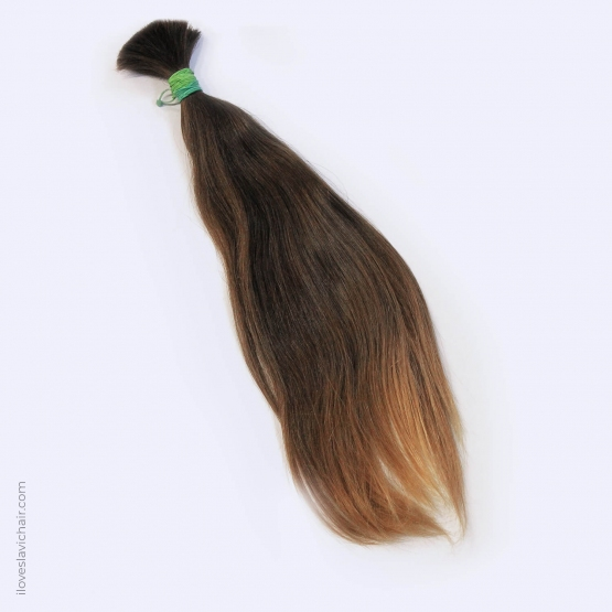 Virgin Slavic Hair Bundle, Color #6, 18″-45cm, 80 grams