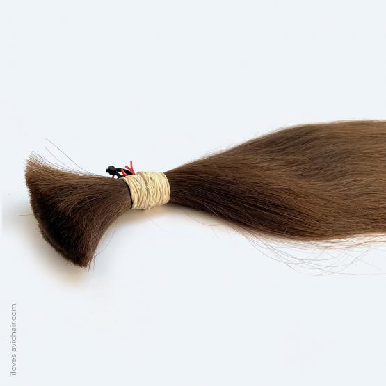 Virgin Slavic Hair Bundle, Color #7-8, 32″-80cm, 200 grams