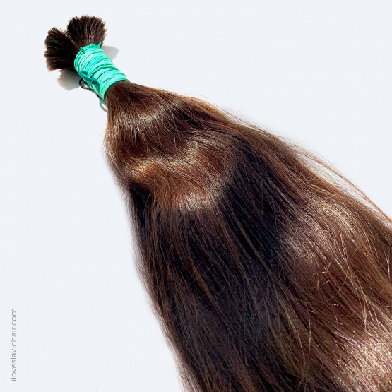 Virgin Slavic Hair Bundle, Color #4-5, 24″-60cm, 160 grams