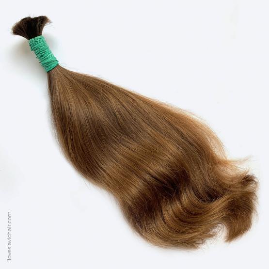 Virgin Slavic Hair Bundle, Color #8, 18″-45cm, 114 grams