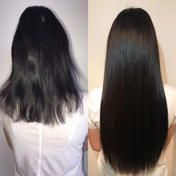 Hot Fusion Hair Extensions Example Before and After - 3