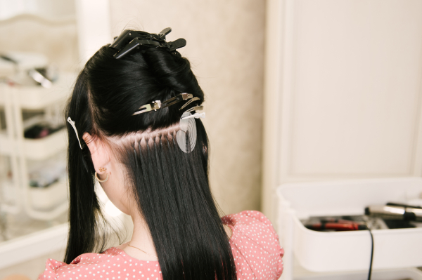 Hot fusion hair extensions method