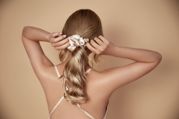pure mulberry silk scrunchie by I Love Slavic Hair