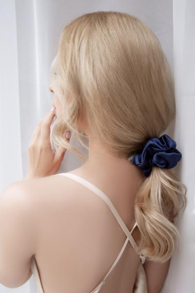 ponytail with silk scrunchie