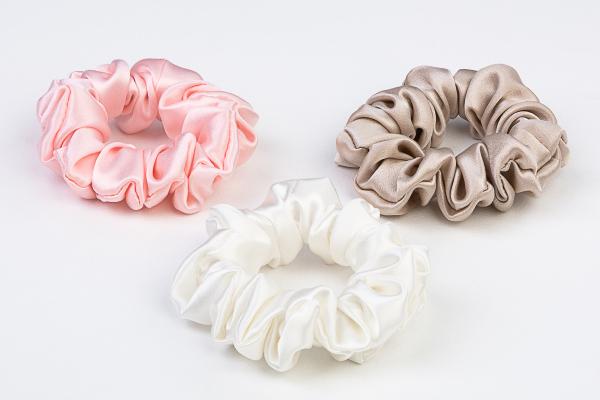 Pure silk scrunchies