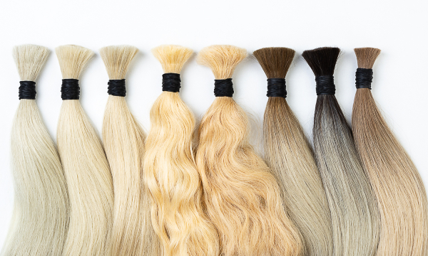 Real human hair extensions vs synthetic hair extensions