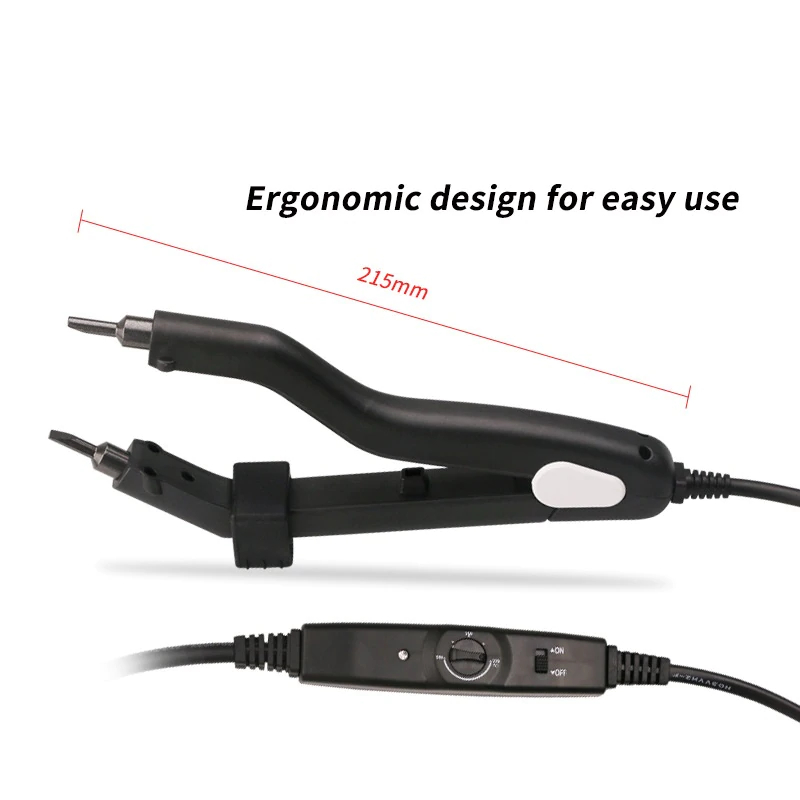 Professional hair extensions iron with ergonomic design for easy use